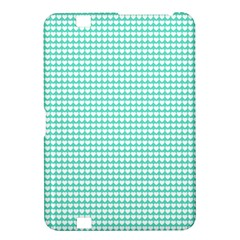 Solid White Hearts on Pale Tiffany Aqua Blue Kindle Fire HD 8.9