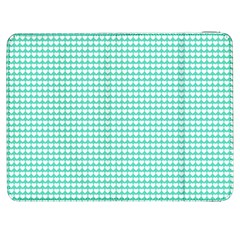 Solid White Hearts on Pale Tiffany Aqua Blue Samsung Galaxy Tab 7  P1000 Flip Case
