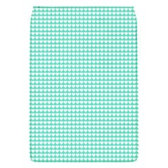 Solid White Hearts on Pale Tiffany Aqua Blue Flap Covers (S)
