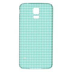 Solid White Hearts on Pale Tiffany Aqua Blue Samsung Galaxy S5 Back Case (White)