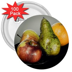 Get Fruity 3  Buttons (100 pack)