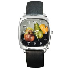 Get Fruity Square Metal Watch