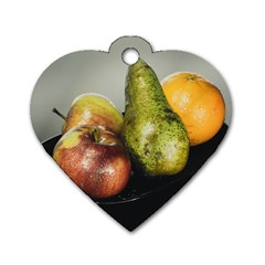 Get Fruity Dog Tag Heart (One Side)