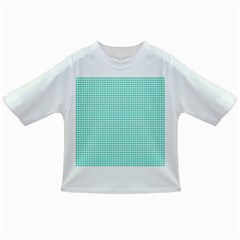 Tiffany Aqua Blue Candy Hearts on White Infant/Toddler T-Shirts