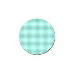 Tiffany Aqua Blue Candy Hearts on White Golf Ball Marker (10 pack)