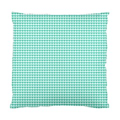 Tiffany Aqua Blue Candy Hearts on White Standard Cushion Case (Two Sides)