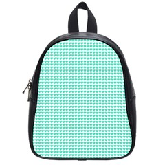 Tiffany Aqua Blue Candy Hearts on White School Bags (Small)