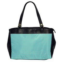 Tiffany Aqua Blue Candy Hearts on White Office Handbags