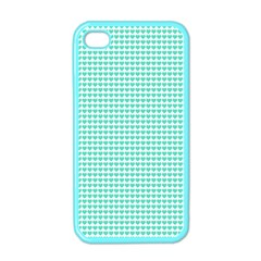 Tiffany Aqua Blue Candy Hearts on White Apple iPhone 4 Case (Color)