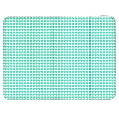Tiffany Aqua Blue Candy Hearts on White Samsung Galaxy Tab 7  P1000 Flip Case