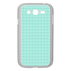 Tiffany Aqua Blue Candy Hearts on White Samsung Galaxy Grand DUOS I9082 Case (White)
