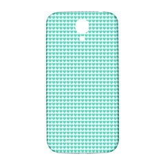 Tiffany Aqua Blue Candy Hearts on White Samsung Galaxy S4 I9500/I9505  Hardshell Back Case