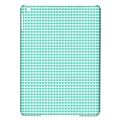 Tiffany Aqua Blue Candy Hearts on White iPad Air Hardshell Cases