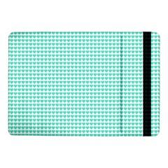 Tiffany Aqua Blue Candy Hearts on White Samsung Galaxy Tab Pro 10.1  Flip Case
