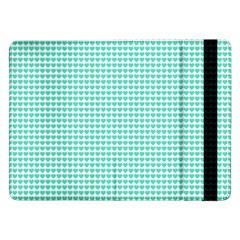 Tiffany Aqua Blue Candy Hearts on White Samsung Galaxy Tab Pro 12.2  Flip Case