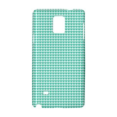 Tiffany Aqua Blue Candy Hearts on White Samsung Galaxy Note 4 Hardshell Case