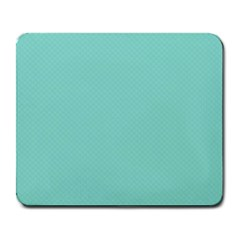 Tiffany Aqua Blue Puffy Quilted Pattern Large Mousepads