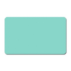 Tiffany Aqua Blue Puffy Quilted Pattern Magnet (Rectangular)