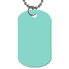 Tiffany Aqua Blue Puffy Quilted Pattern Dog Tag (Two Sides)