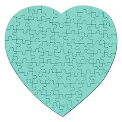 Tiffany Aqua Blue Puffy Quilted Pattern Jigsaw Puzzle (Heart)