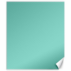 Tiffany Aqua Blue Puffy Quilted Pattern Canvas 8  x 10