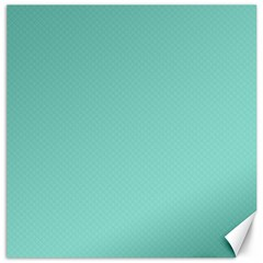 Tiffany Aqua Blue Puffy Quilted Pattern Canvas 16  x 16