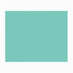 Tiffany Aqua Blue Puffy Quilted Pattern Small Glasses Cloth (2-Side)