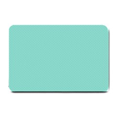 Tiffany Aqua Blue Puffy Quilted Pattern Small Doormat