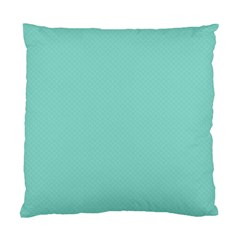 Tiffany Aqua Blue Puffy Quilted Pattern Standard Cushion Case (Two Sides)