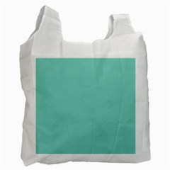 Tiffany Aqua Blue Puffy Quilted Pattern Recycle Bag (Two Side)