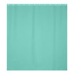 Tiffany Aqua Blue Puffy Quilted Pattern Shower Curtain 66  x 72  (Large)