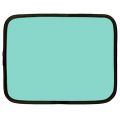 Tiffany Aqua Blue Puffy Quilted Pattern Netbook Case (XXL)