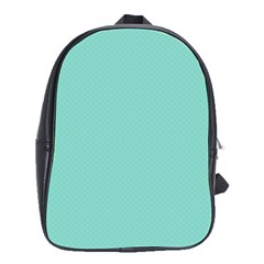 Tiffany Aqua Blue Puffy Quilted Pattern School Bags(Large)