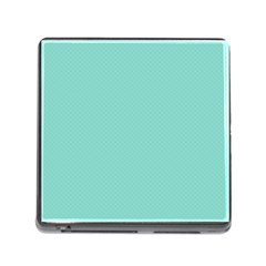 Tiffany Aqua Blue Puffy Quilted Pattern Memory Card Reader (Square)