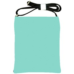 Tiffany Aqua Blue Puffy Quilted Pattern Shoulder Sling Bags