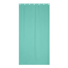 Tiffany Aqua Blue Puffy Quilted Pattern Shower Curtain 36  x 72  (Stall)