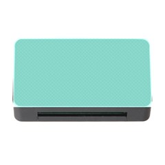 Tiffany Aqua Blue Puffy Quilted Pattern Memory Card Reader with CF