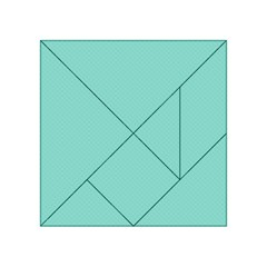Tiffany Aqua Blue Puffy Quilted Pattern Acrylic Tangram Puzzle (4  x 4 )