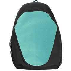 Tiffany Aqua Blue Puffy Quilted Pattern Backpack Bag