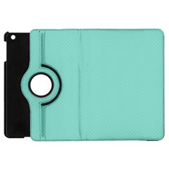 Tiffany Aqua Blue Puffy Quilted Pattern Apple iPad Mini Flip 360 Case