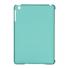 Tiffany Aqua Blue Puffy Quilted Pattern Apple iPad Mini Hardshell Case (Compatible with Smart Cover)