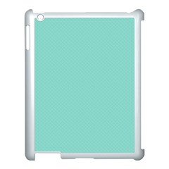 Tiffany Aqua Blue Puffy Quilted Pattern Apple iPad 3/4 Case (White)