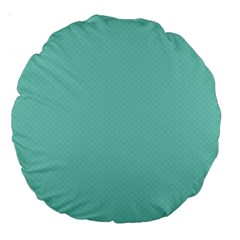 Tiffany Aqua Blue Puffy Quilted Pattern Large 18  Premium Round Cushions