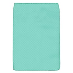 Tiffany Aqua Blue Puffy Quilted Pattern Flap Covers (L)