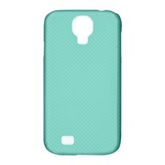 Tiffany Aqua Blue Puffy Quilted Pattern Samsung Galaxy S4 Classic Hardshell Case (PC+Silicone)