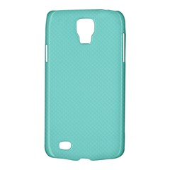 Tiffany Aqua Blue Puffy Quilted Pattern Galaxy S4 Active