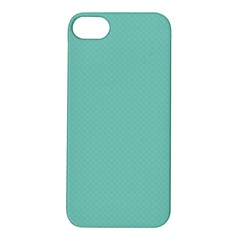 Tiffany Aqua Blue Puffy Quilted Pattern Apple iPhone 5S/ SE Hardshell Case