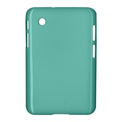 Tiffany Aqua Blue Puffy Quilted Pattern Samsung Galaxy Tab 2 (7 ) P3100 Hardshell Case