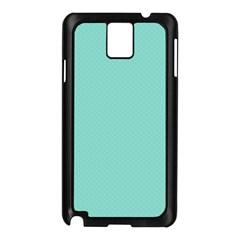 Tiffany Aqua Blue Puffy Quilted Pattern Samsung Galaxy Note 3 N9005 Case (Black)