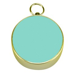 Tiffany Aqua Blue Puffy Quilted Pattern Gold Compasses